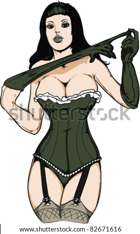 Vector Pin-up Girl - stock vector