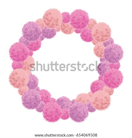 Vector Pink Baby Girl Birthday Party Stock Vector (Royalty Free ...
