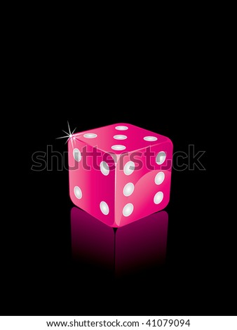 Vector pink dices - stock vector
