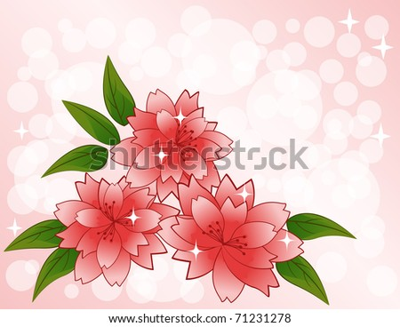Vector pink flowers. eps10