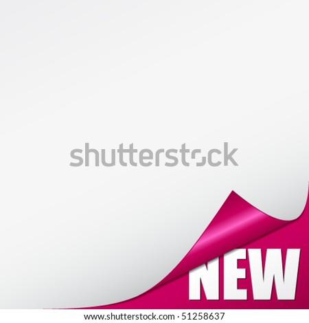 vector pink new corner - stock vector