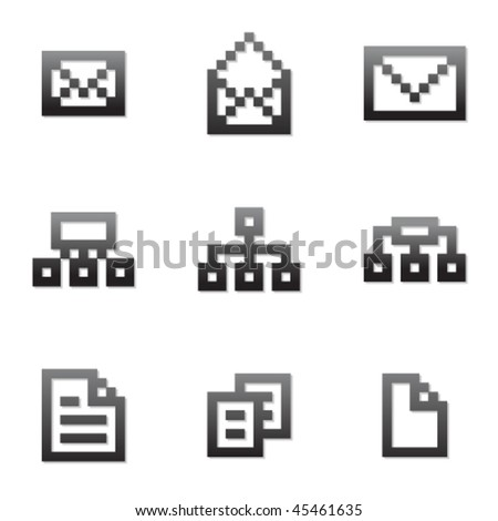 Vector pixel icon set 5 - stock vector