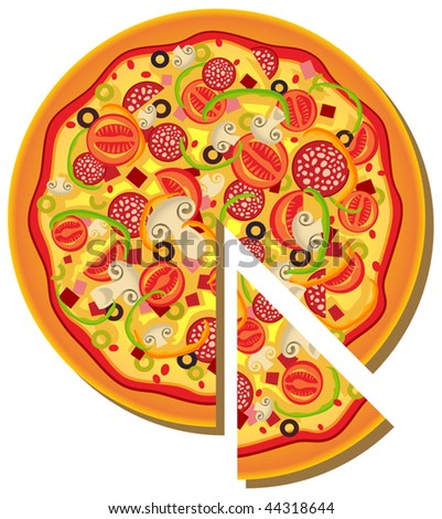 Vector Pizza - stock vector