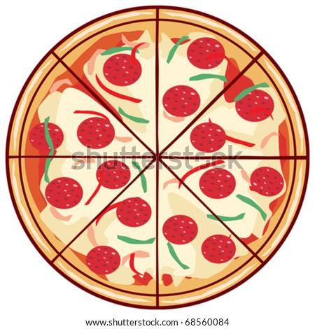 Vector Pizza - stock vector