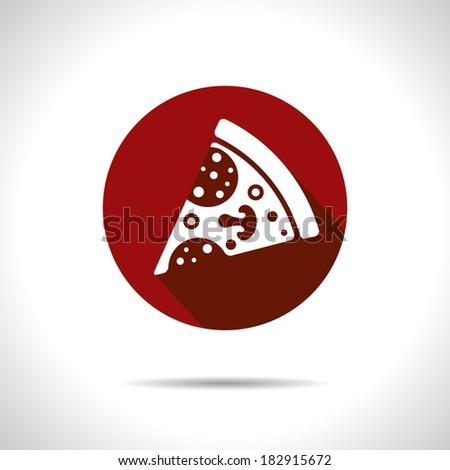 Vector pizza icon. Eps10 - stock vector