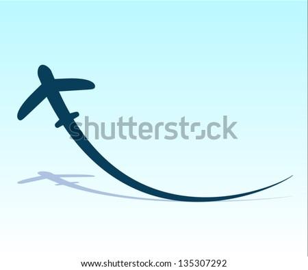 Vector plane - stock vector