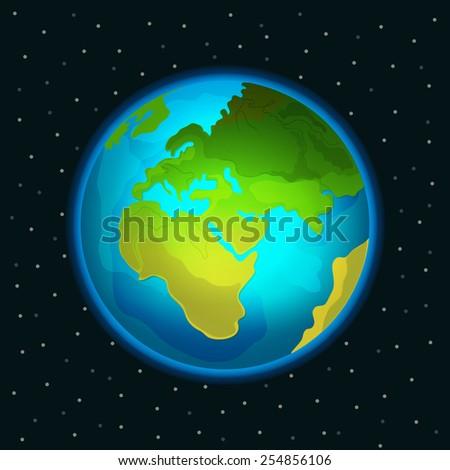 Vector Planet Earth illustration - stock vector