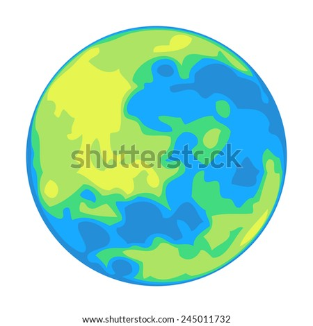 Vector planet isolated on white - stock vector