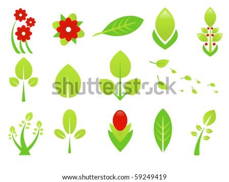 vector plants - stock vector