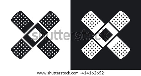 Vector Plaster icon. Two-tone version of Adhesive Plaster or Sticking- - stock vector