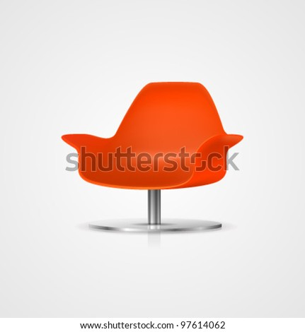 Vector Plastic Chair - stock vector