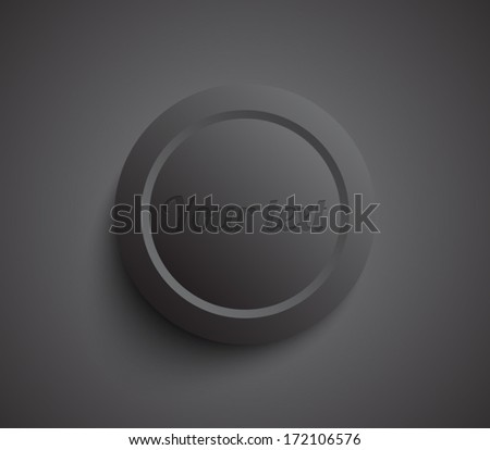 Vector plastic circle banner / button. Clean and modern style design
