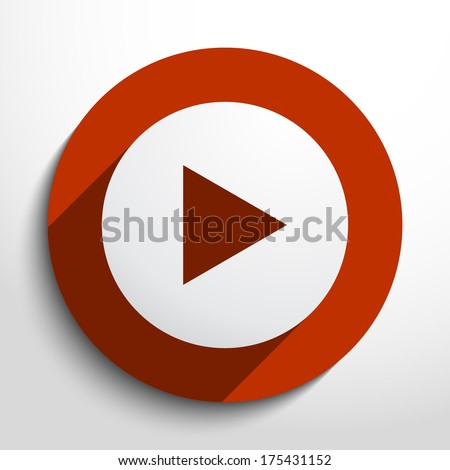 Vector play button background. - stock vector