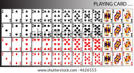 vector playing card - stock vector