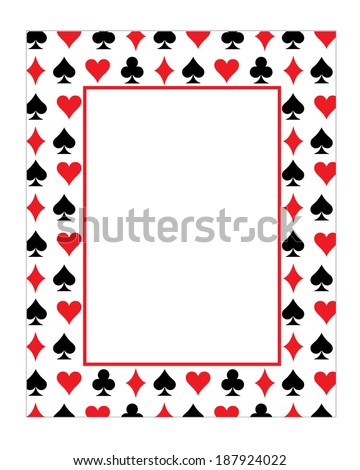 playing card invitation template. Black Bedroom Furniture Sets. Home Design Ideas