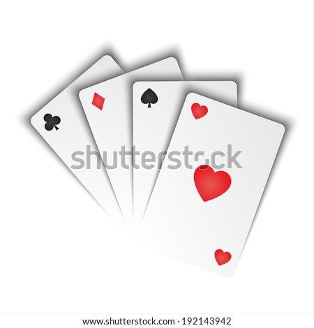 Vector playing cards - stock vector