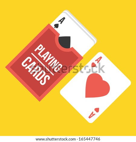 Vector Playing Cards Icon - stock vector
