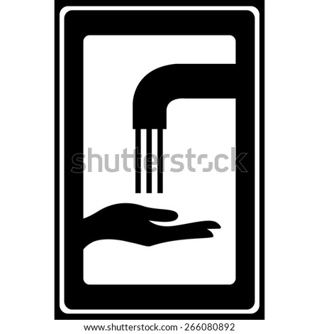 Vector please wash your hands sign (please wash your hands icon, please wash your hands symbol, please wash your hands label) - stock vector