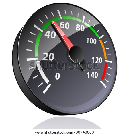 Vector pointer indicator. - stock vector