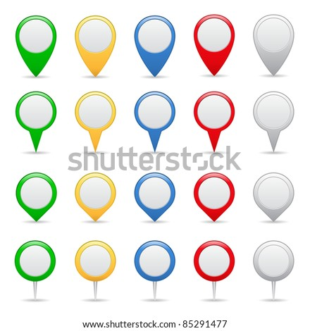 Vector Pointers - stock vector