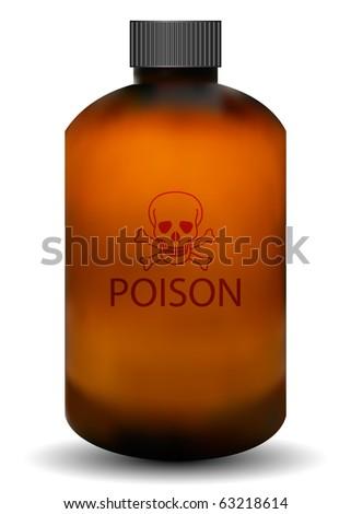 Vector Poison Bottle - stock vector