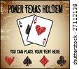 Vector poker background - stock vector