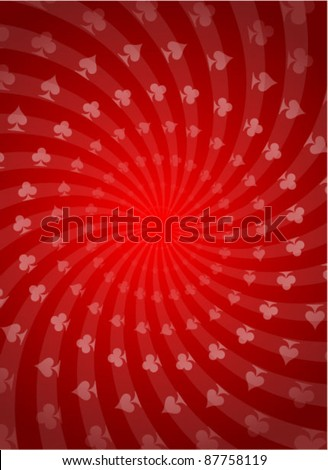 Vector Poker Red Background - stock vector