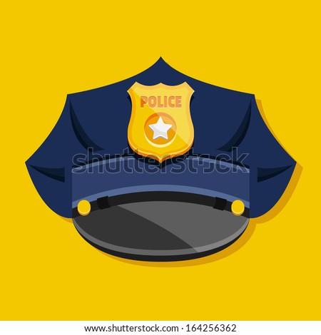 Vector Police Hat - stock vector