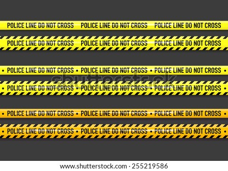 Vector Police line do not cross tape design  - stock vector