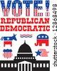 Vector political icons set - stock vector