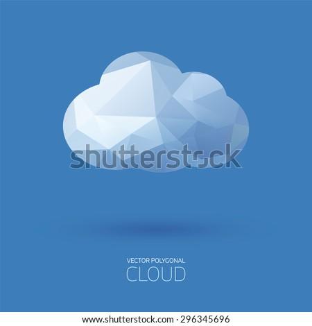 Vector polygonal cloud background. - stock vector
