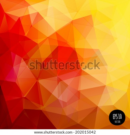 Vector polygonal pattern. Contemporary abstract geometry background. Color banner. Spectrum digital backdrop. Modern and trendy design. Creative crumpled polygon. - stock vector