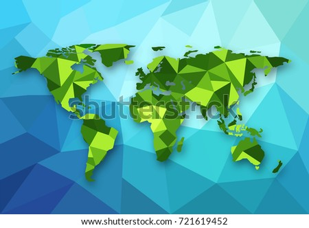 Vector polygonal world map low poly vector de stock721619452 vector polygonal world map low poly design origami planet illustration conceptual world map gumiabroncs Gallery