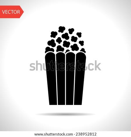 Vector popcorn icon. Food icon. Eps10 - stock vector