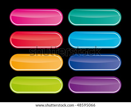 vector popular color buttons for internet