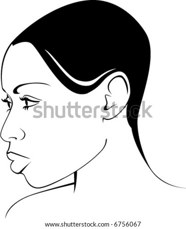 Vector Portrait of an African American Woman. - stock vector