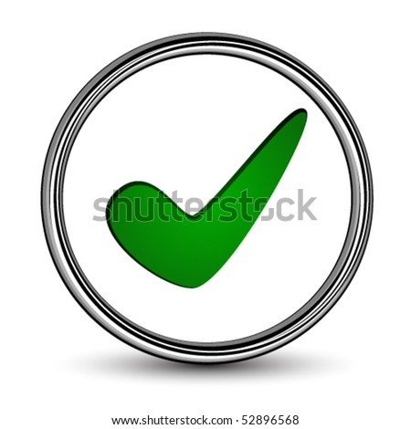 vector positive checkmark - stock vector