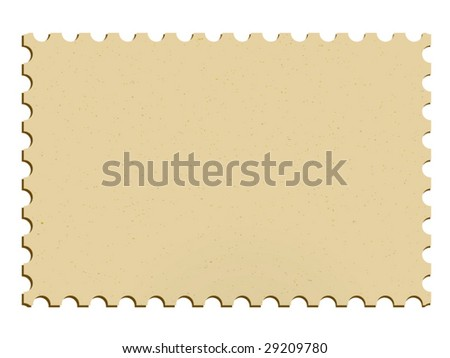 Vector postage stamp - stock vector