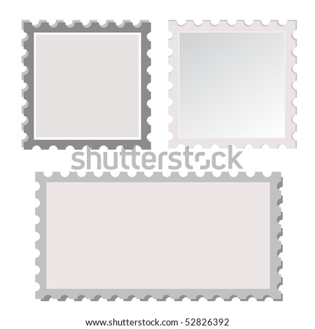 Vector Postage Stamp Template Stock Vector 52826392 - Shutterstock