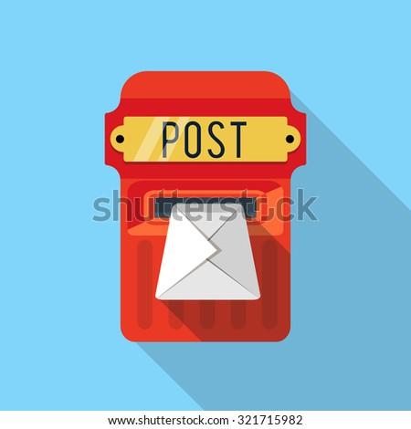 Vector postbox icon - stock vector