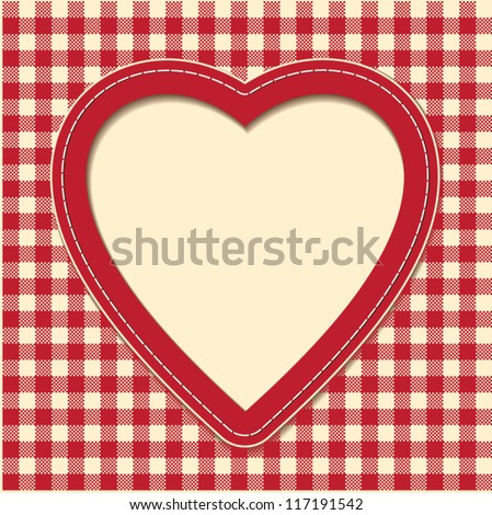 Vector postcard for Valentine's Day in vintage style - stock vector