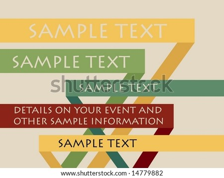 Vector Poster with Title Copyspace - stock vector