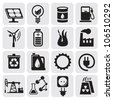 vector power and energy icons - stock vector