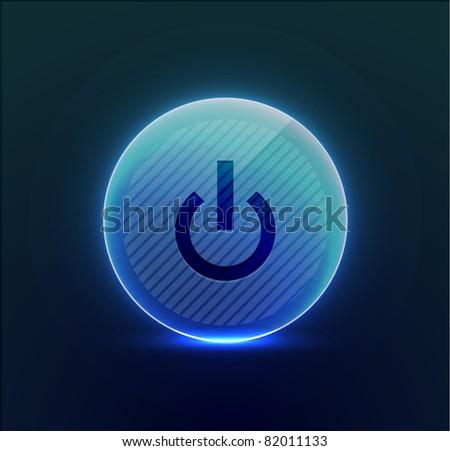 Vector power button - stock vector