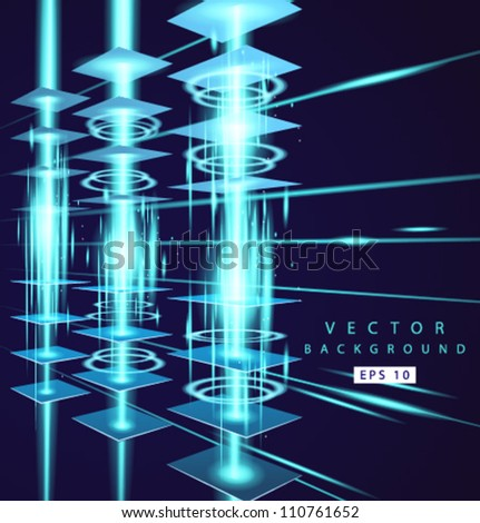 Vector power lines - stock vector