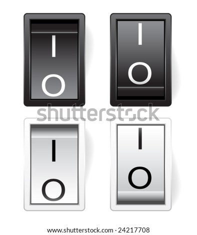 Vector power switch on off - stock vector