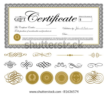 Vector premium certificate template ornaments easy vector premium certificate template and ornaments easy to edit perfect for gift certificates and yelopaper Gallery