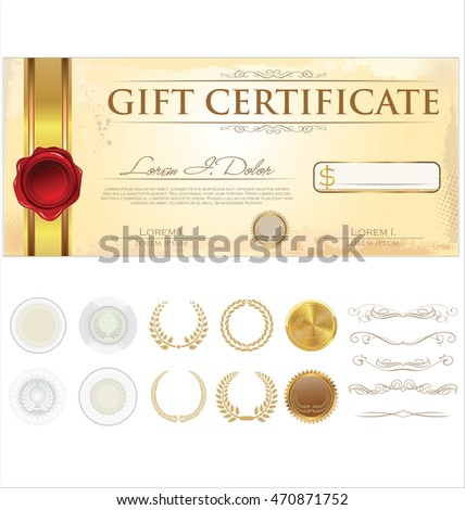 Vector premium gift certificate template stock photo photo vector vector premium gift certificate template yelopaper Gallery