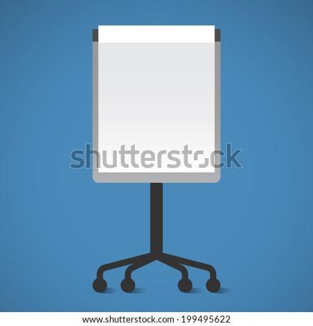 Vector Presentation Board. Flip-chart. Flat design vector illustration - stock vector