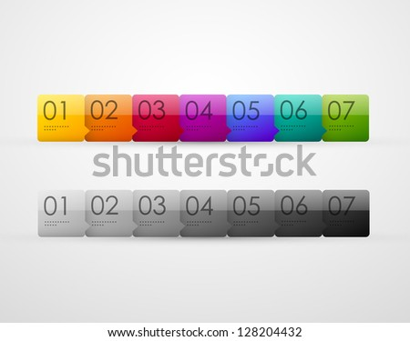 Vector presentation panel - stock vector
